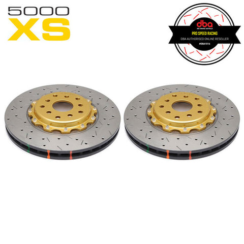 DBA HD5000XS Gold Series 2-Piece Slotted Front Rotors Pair - Toyota 86/Subaru BRZ