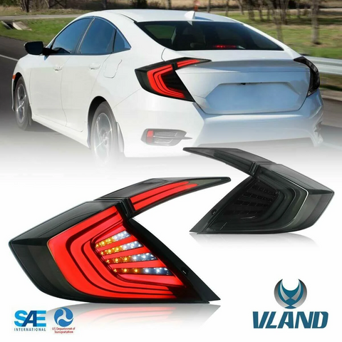 VLAND LED Sequential Tail Lights - Honda Civic MK10/FK Sedan
