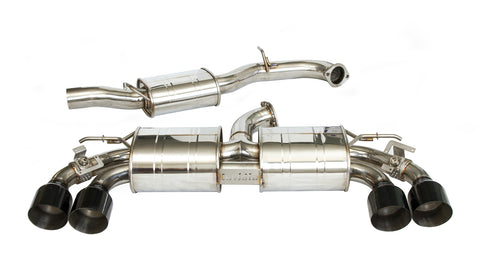 Invidia R400 Signature Series Cat Back Valved Exhaust (Black Tips) - VW Golf R MK7.5