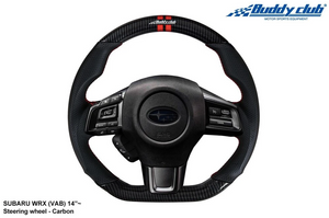 BuddyClub Carbon Fibre Racing Spec Steering Wheel - Subaru WRX/STI 15+