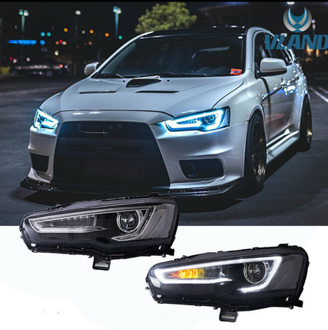 VLAND Sequential DRL Headlights - 07-17 Mitsubishi Lancer and Evolution X
