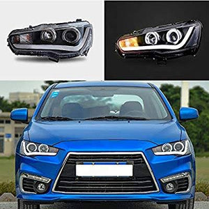 VLAND Angel Eyes DRL Headlights - 07-17 Mitsubishi Lancer and Evolution X