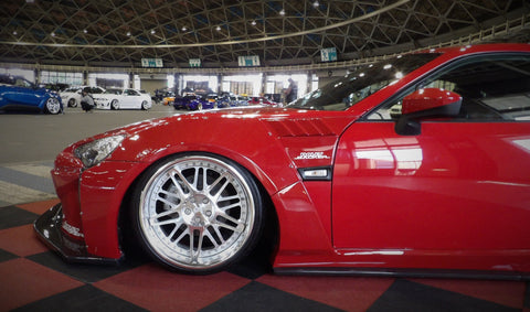 Rally Backer Version 2 Type S Side Skirts with Canards - Toyota 86/Subaru BRZ