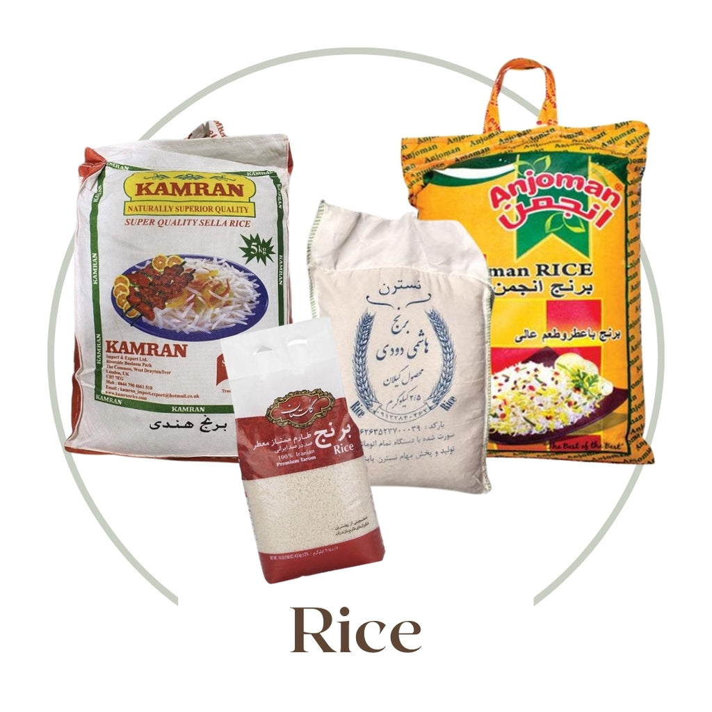 Rice, Persian Rice, Basmati Rice, Sella Rice