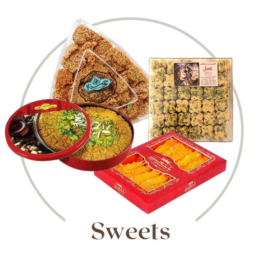 Sweets, Confectionary, Persian Sweets, Nabat, Sohan, Shirini