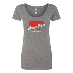 North Peak Mama Bear Scoop Neck Tee - Athletic Heather