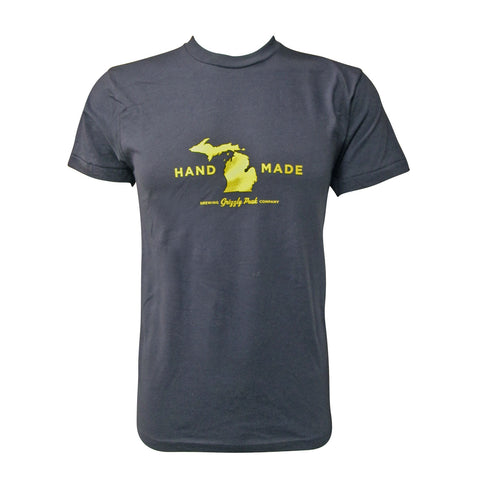 Grizzly Peak Hand Made T-Shirt - Navy