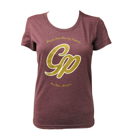 Grizzly Peak Ladies Scoop Neck T-Shirt - Heather Plum
