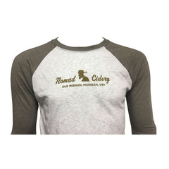 Nomad Cidery Raglan - Heather White / Venetian Grey
