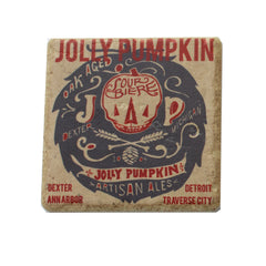 The Detroit Coaster Co Jolly Pumpkin Retro Coaster - Brown