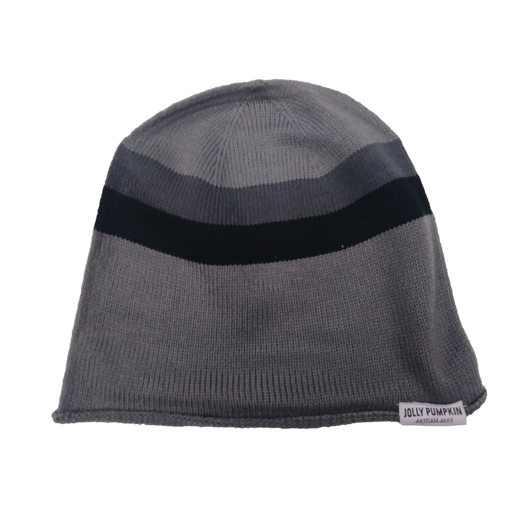 JP charcoal striped beanie