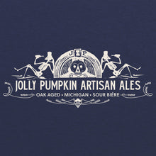 Load image into Gallery viewer, Jolly Pumpkin Drinking Skeletons Tee - Vintage Navy