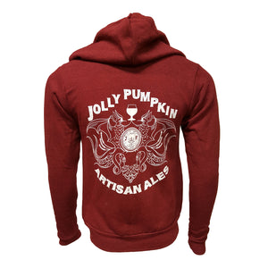 Jolly Pumpkin Triblend Fleece Hoodie - Cardinal