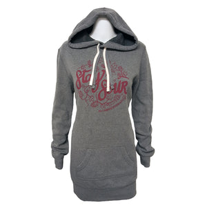 Jolly Pumpkin Stay Sour Ladies Hoodie Dress - Nickel