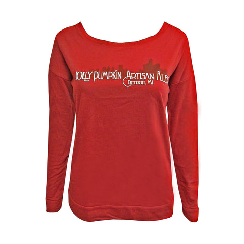 Jolly Pumpkin Women's Detroit L/S Scoop - Red