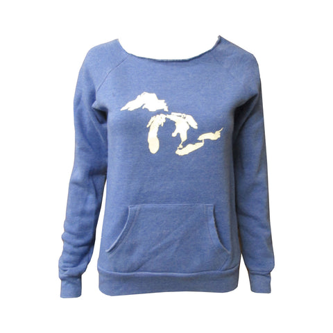 Great Lakes Maniac Sweatshirt - Eco True Pacific Blue