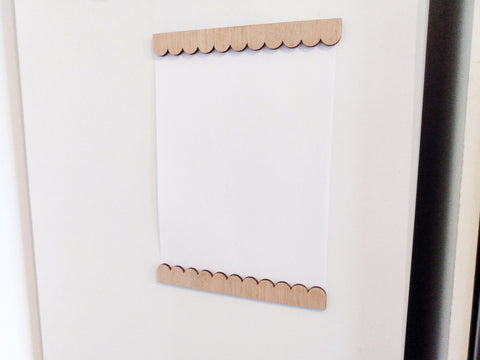 Scallop Fridge Frame A4