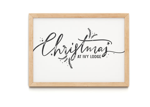 Personalised Christmas House Number Print