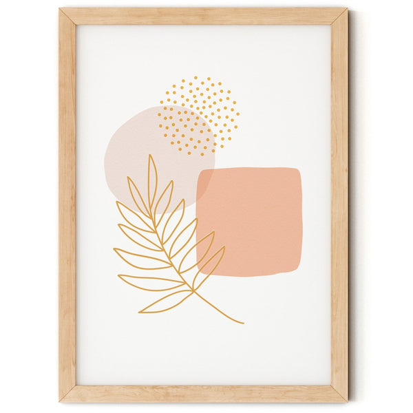 Abstract Leaf Nursery Print