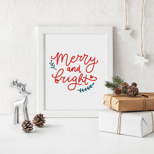 Merry & Bright Christmas Print