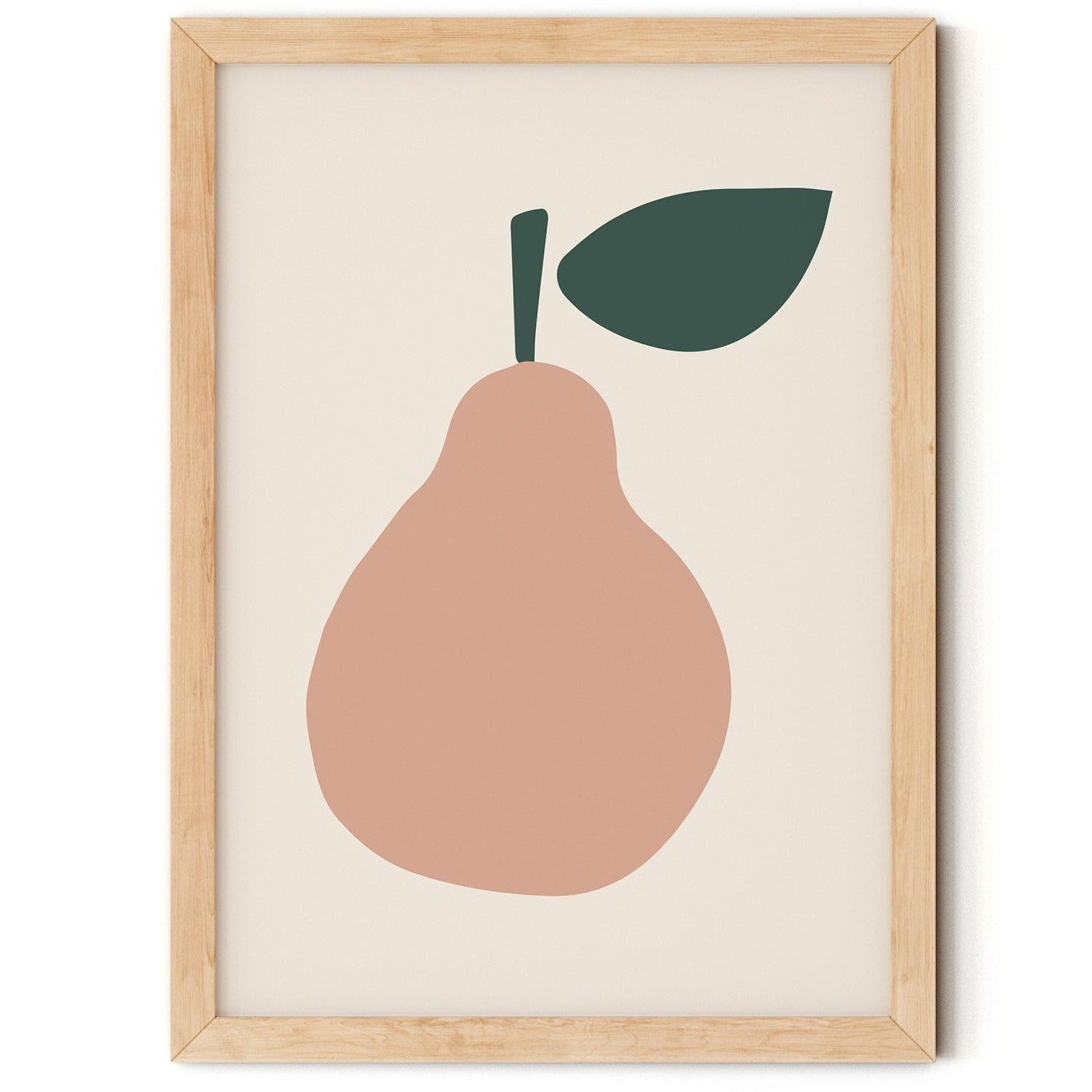 Peach Pear Nursery Print