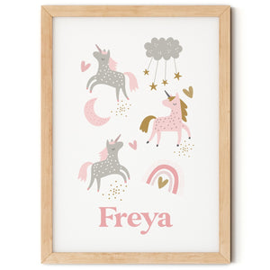 Personalised Dreamy Unicorns Print