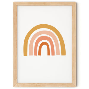 Earth Tones Rainbow Print