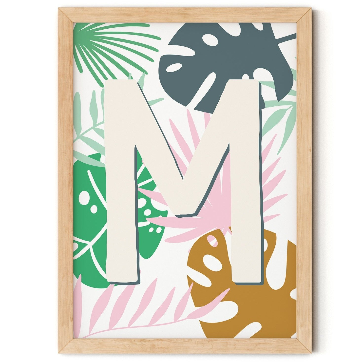 Safari Theme Initial Print