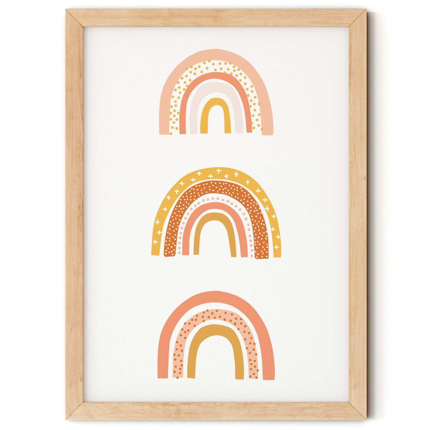 Earth Tones Rainbow Trio Print