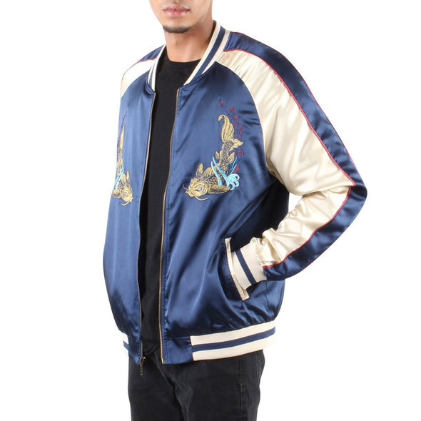 UNISEX SAMURAI SOUVENIR JACKET NAVY AND GOLD