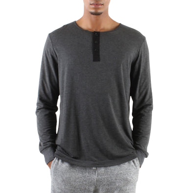 LONG SLEEVE MODAL HENLEY