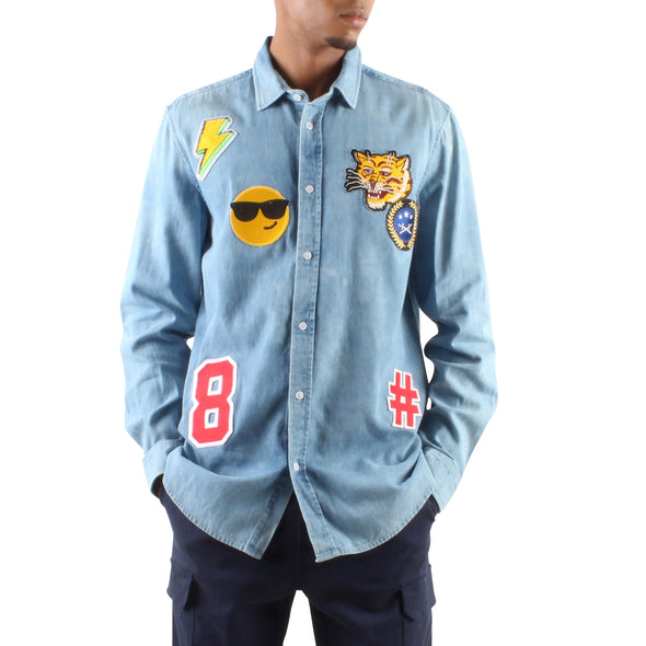 CHAMBRAY PATCH SHIRT
