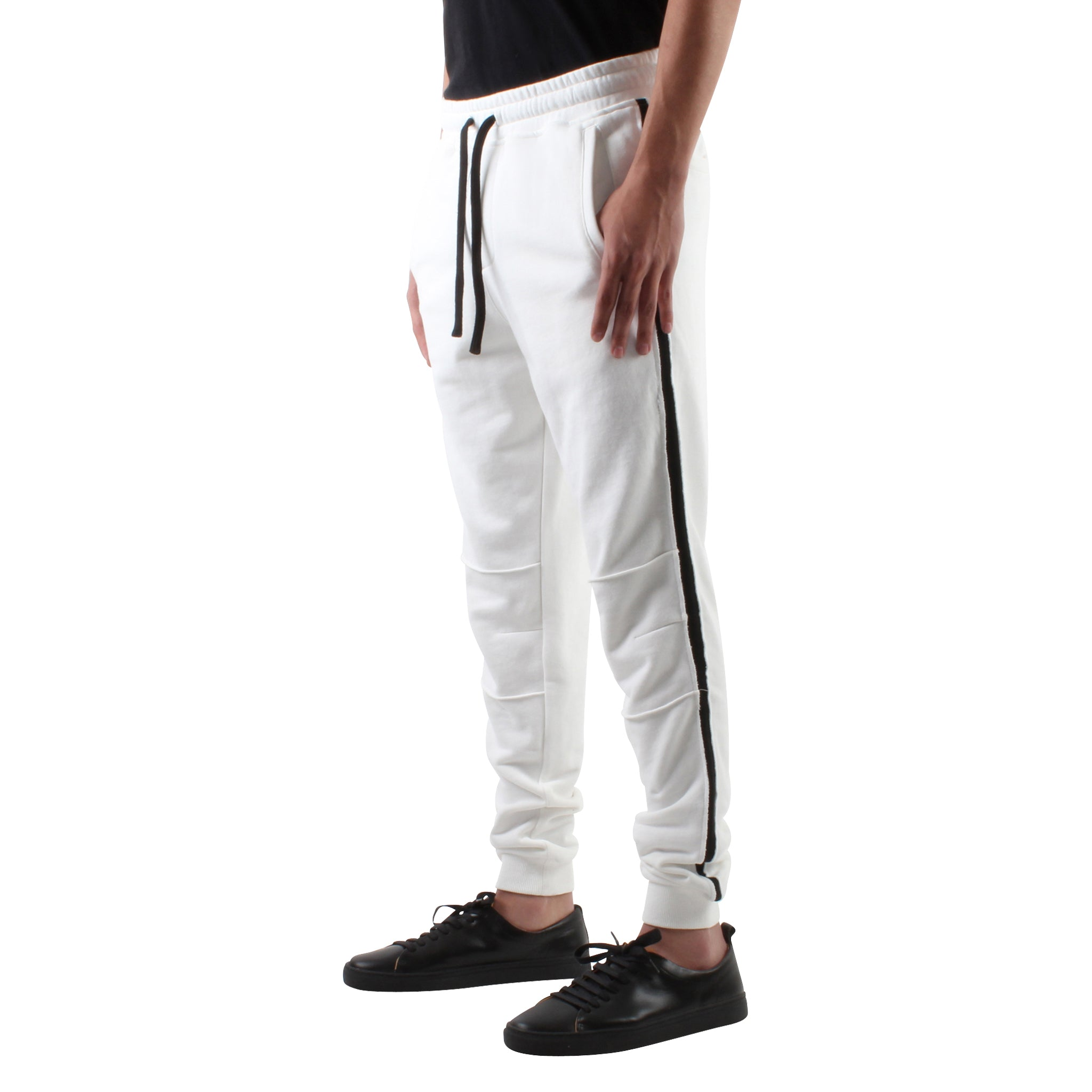 WHITE SLIM SWEAT JOGGERS