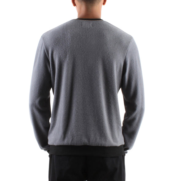 HACCI ANTHRACITE LONG SLEEVE CREW
