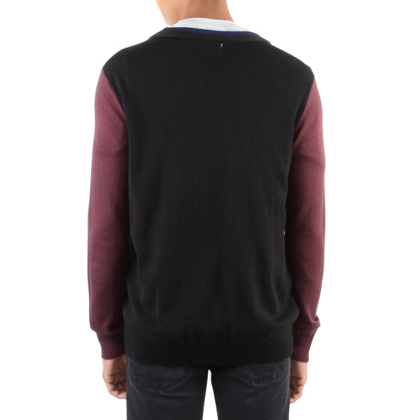 DOUBLE HEM CARDIGAN - BLACK
