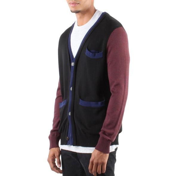 DOUBLE HEM CARDIGAN BLACK
