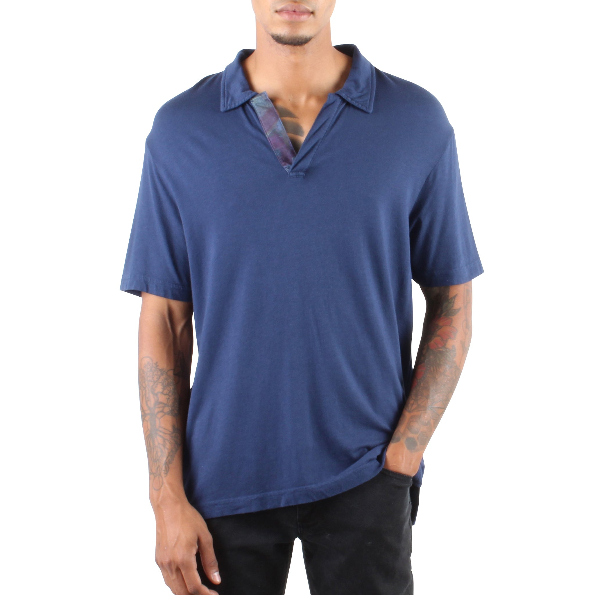 RELAXED POLO NAVY
