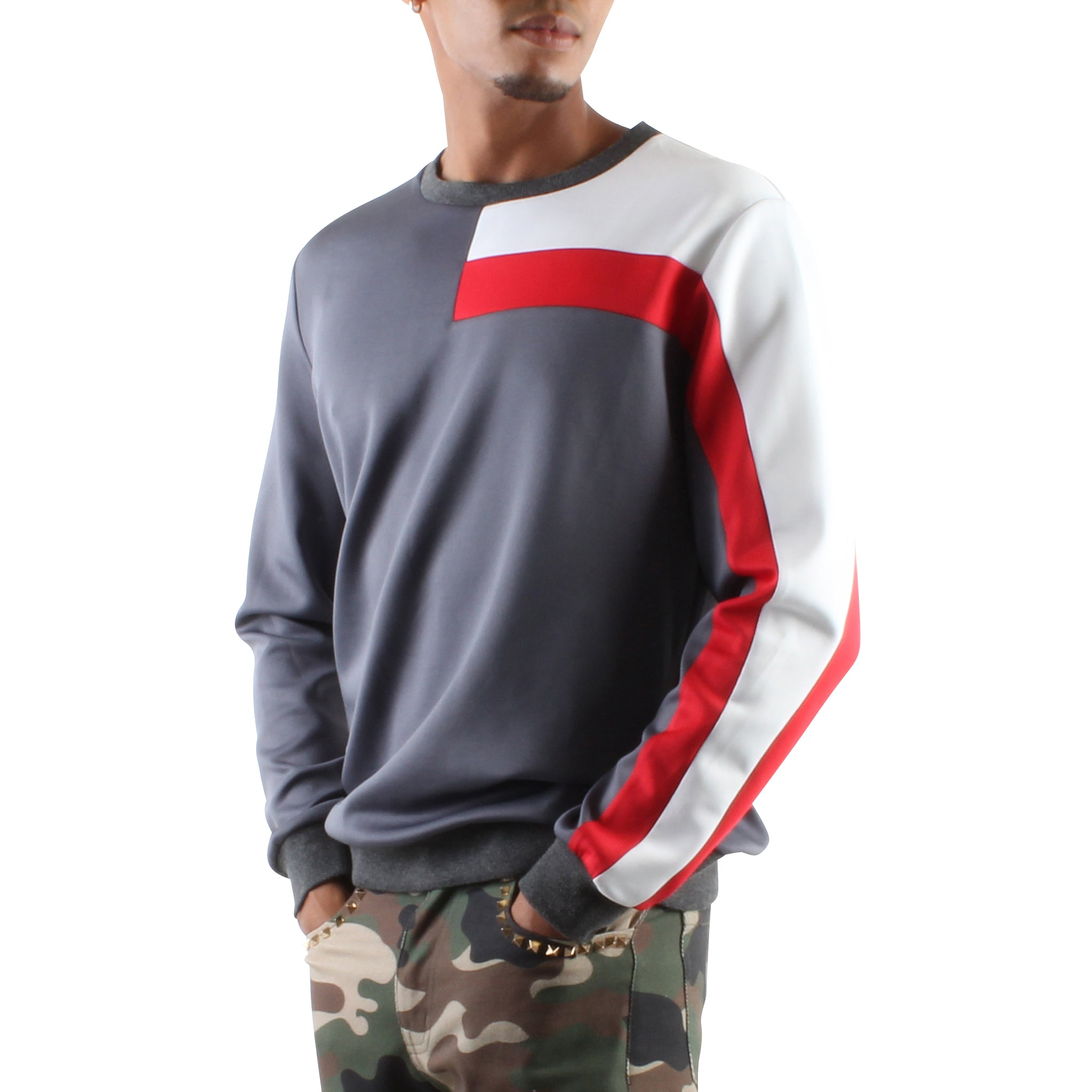 GREY RACER PULLOVER