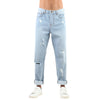 DISTRESSED LIGHT BLUE JEANS
