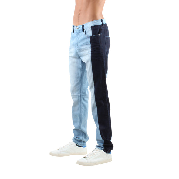 TWO TONED PEICED JEANS