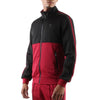 BLACK AND MAROON ZIP FRONT TRACK JACKET