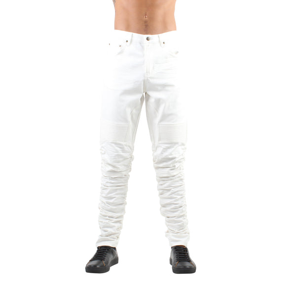 STACKED JEANS - WHITE