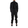 FULL ZIP BLACK WOOL JUMPSUIT