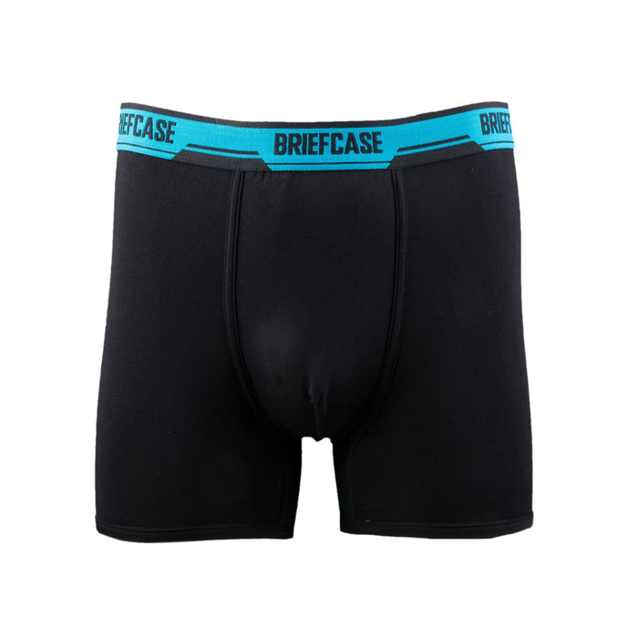BRIEFCASE Men's Single Boxer Briefs w/ Internal Pouch - Black