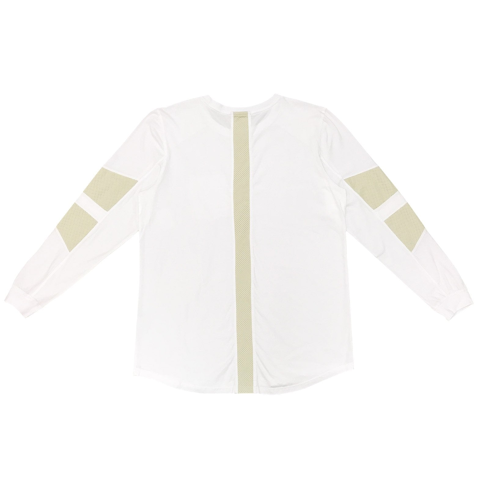 FAUX SUEDE DETAIL LONG SLEEVE SHIRT - WHITE
