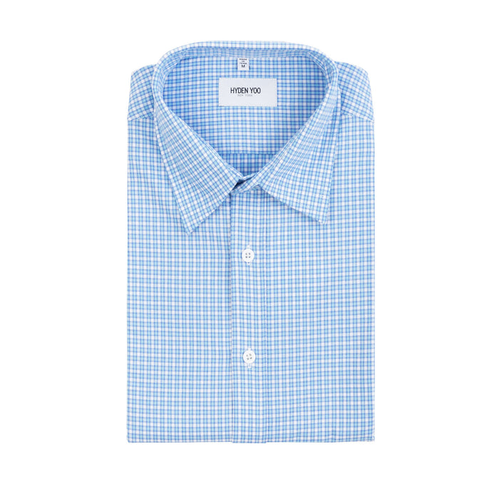 CONNOR SHIRT-LIGHT BLUE MINI CHECKER