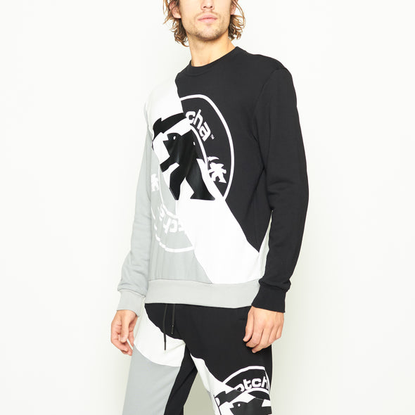 OC Color Block Crewneck - Black/Grey