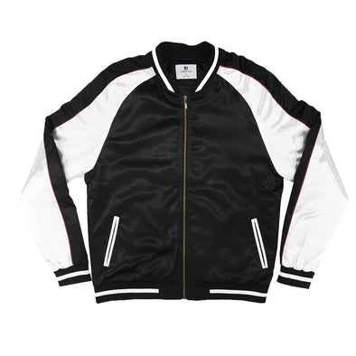 NO EMBROIDERY SOUVENIR JACKET - BLACK/WHITE