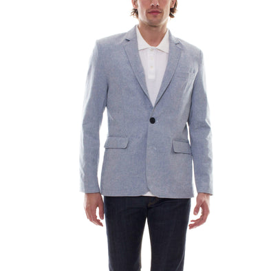 LIGHT BLUE CHAMBRAY BLAZER