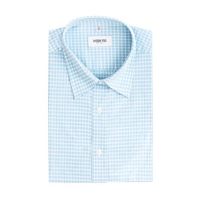 RAYMOND SLIM SHIRT - BLUE TATTERSALL